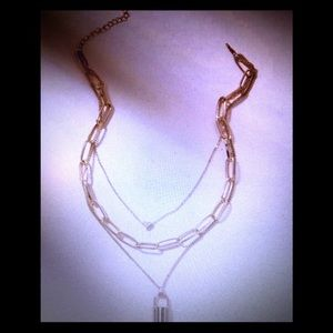 Jewelry - New in!!! Triple layer lock & heart necklace